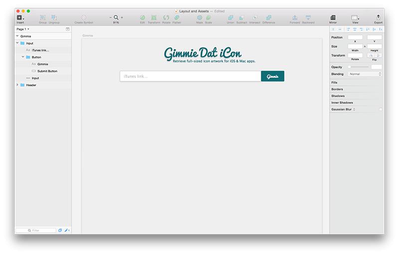 Проектирование веб-приложения, использующего API, в Sketch